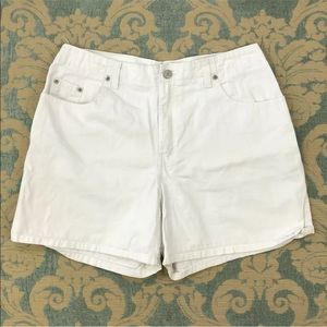 "Jean Walking Shorts White Denim 4"" Inseam"